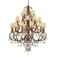 Crystorama Royal 24 Light Chandelier in Florentine Bronze, Clear Crystal, Hand Cut 6907-FB-CL-MWP