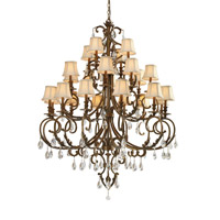 Crystorama Royal 24 Light Chandelier in Florentine Bronze, Clear Crystal, Swarovski Elements 6907-FB-CL-S