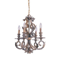 Crystorama Royal 4 Light Mini Chandelier in Florentine Bronze 6914-FB