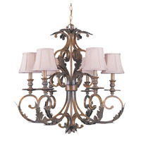 Crystorama Royal 6 Light Chandelier in Florentine Bronze 6916-FB