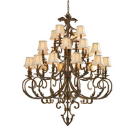 Crystorama Royal 24 Light Chandelier in Florentine Bronze 6917-FB