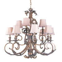 Crystorama Royal 12 Light Chandelier in Florentine Bronze 6919-FB