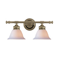 Crystorama Chesapeake 2 Light Wall Sconce in Antique Brass 692-AB