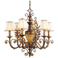Crystorama Yorktown 6 Light Chandelier in Golden Umber 6926