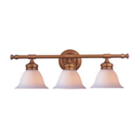 Crystorama Lighting Chesapeake 3 Light Bath Vanity in Antique Brass 693-AB