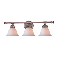 Crystorama Lighting Chesapeake 3 Light Bath Vanity in Satin Nickel 693-SN photo thumbnail