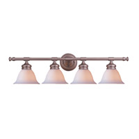 Crystorama Lighting Chesapeake 4 Light Bath Vanity in Satin Nickel 694-SN