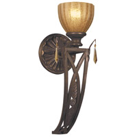 Crystorama Signature 1 Light Wall Sconce in Espresso, Golden Teak, Hand Cut 6941-ES-GT-MWP