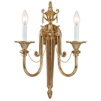 Crystorama Arlington 2 Light Wall Sconce in Olde Brass 7002-OB