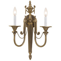 Crystorama Arlington 2 Light Wall Sconce in Roman Bronze 7002-RB