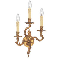 Crystorama Oxford 3 Light Wall Sconce in Olde Brass 703-OB photo thumbnail