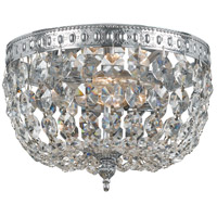 Crystorama 708-CH-CL-S Signature 2 Light 8 inch Chrome Flush Mount Ceiling Light in Chrome (CH), Clear Swarovski Strass