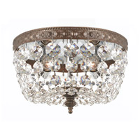 Signature 2 Light 8 inch English Bronze Flush Mount Ceiling Light in Hand Cut, English Bronze (EB)