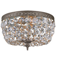 Signature 2 Light 10 inch English Bronze Flush Mount Ceiling Light in Hand Cut, English Bronze (EB), Clear Crystal (CL)