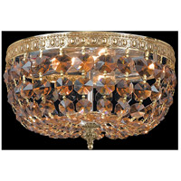 Crystorama 710-OB-GT-MWP Signature 2 Light 10 inch Olde Brass Flush Mount Ceiling Light