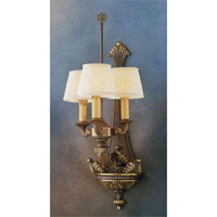 Crystorama Signature 3 Light Wall Sconce in Olde Brass 7103-OB