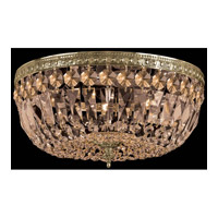 Crystorama 712-AG-GT-MWP Signature 3 Light 12 inch Aged Brass Flush Mount Ceiling Light