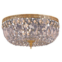 Crystorama 712-OB-GT-MWP Signature 3 Light 12 inch Olde Brass Flush Mount Ceiling Light