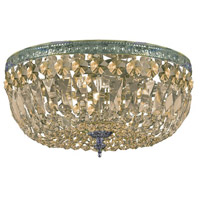 Signature 3 Light 14 inch Aged Brass Semi Flush Mount Ceiling Light