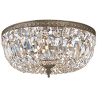 Signature 3 Light 14 inch English Bronze Flush Mount Ceiling Light in English Bronze (EB), Clear Hand Cut