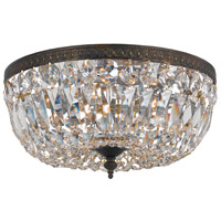 Signature 3 Light 16 inch English Bronze Flush Mount Ceiling Light in English Bronze (EB), Clear Swarovski Strass