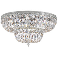 Crystorama 718-CH-CL-S Signature 4 Light 18 inch Polished Chrome Flush Mount Ceiling Light in Polished Chrome (CH), Clear Swarovski Strass