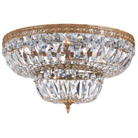 Signature 8 Light 30 inch Olde Brass Flush Mount Ceiling Light in Hand Cut