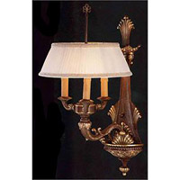 Crystorama Signature 3 Light Wall Sconce in Olde Brass 7303-OB