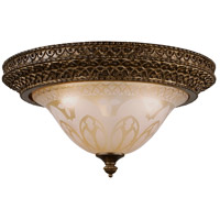 Crystorama Norwalk 3 Light Flush Mount in Bronze Umber 7400-BU