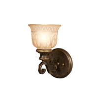 Crystorama Norwalk 1 Light Wall Sconce in Bronze Umber 7401-BU