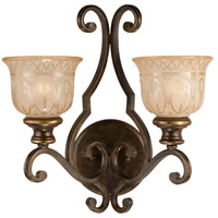 Crystorama Norwalk 2 Light Wall Sconce in Bronze Umber 7402-BU