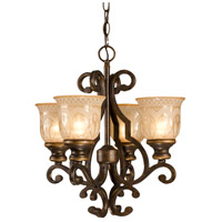 Crystorama 7404-BU Norwalk 4 Light 17 inch Bronze Umber Mini Chandelier Ceiling Light