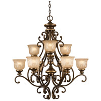 Crystorama 7409-BU Norwalk 9 Light 34 inch Bronze Umber Chandelier Ceiling Light