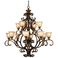 Crystorama 7412-BU Norwalk 12 Light 48 inch Bronze Umber Chandelier Ceiling Light