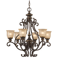 Crystorama Norwalk 6 Light Chandelier in Bronze Umber 7416-BU