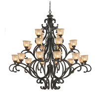 Crystorama Norwalk 24 Light Chandelier in Bronze Umber 7418-BU