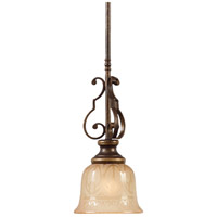 Crystorama Norwalk 1 Light Pendant in Bronze Umber 7421-BU
