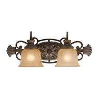 Crystorama Norwalk 2 Light Vanity Light in Bronze Umber 7422-BU