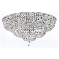 Signature 33 Light 48 inch Polished Chrome Flush Mount Ceiling Light in Clear Crystal (CL), Hand Cut, Polished Chrome (CH)