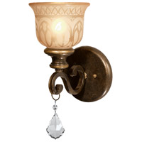 Crystorama Norwalk 1 Light Wall Sconce in Bronze Umber with Swarovski Spectra Crystals 7501-BU-CL-SAQ