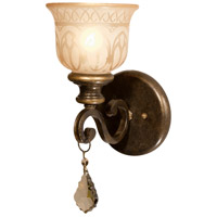 Crystorama Norwalk 1 Light Wall Sconce in Bronze Umber, Hand Cut 7501-BU-GT-MWP