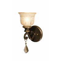 Crystorama Norwalk 1 Light Wall Sconce in Bronze Umber with Hand Cut Crystals 7501-BU-GTR