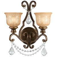 Crystorama Norwalk 2 Light Wall Sconce in Bronze Umber 7502-BU-CL-SAQ
