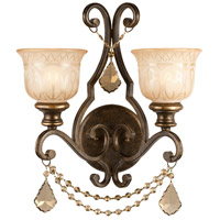 Norwalk 2 Light 16 inch Bronze Umber Wall Sconce Wall Light in Golden Teak Swarovski