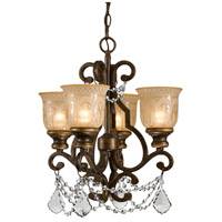 Crystorama Norwalk 4 Light Mini Chandelier in Bronze Umber, Clear Crystal, Hand Cut 7504-BU-CL-MWP