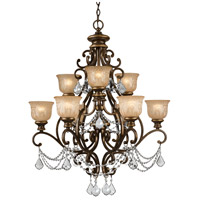 Crystorama Norwalk 9 Light Chandelier in Bronze Umber with Swarovski Spectra Crystals 7509-BU-CL-SAQ