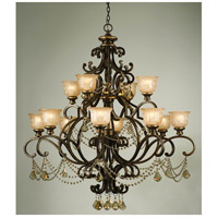 Norwalk 12 Light 48 inch Bronze Umber Chandelier Ceiling Light in Golden Teak Hand Cut