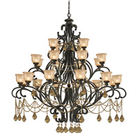 Crystorama Norwalk 24 Light Chandelier in Bronze Umber, Golden Teak, Swarovski Elements 7518-BU-GTS