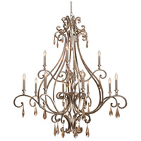 Crystorama Shelby 12 Light Chandelier in Distressed Twilight with Hand Cut Crystals 7520-DT