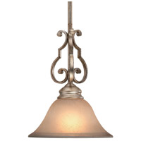 Crystorama Shelby 1 Light Pendant in Distressed Twilight 7521-DT